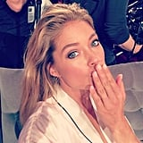 Doutzen Kroes blew a kiss for InStyle. Source: Instagram user instylemagazine