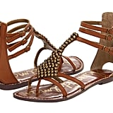 A rich brown shade, ankle straps, and subtle bead accents make these gladiator sandals stand out.  Sam Edelman Ginger Sandals ($100)
