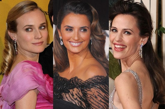 Golden Globes Hair, 2010 Golden Globes Hair, Penelope Cruz Hair, Jennifer Garner Hair, Diane Kruger Hair 2010-01-18 07:00:00