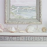 If you have a beach house, gather shells and use them as mantel souvenirs.  Source