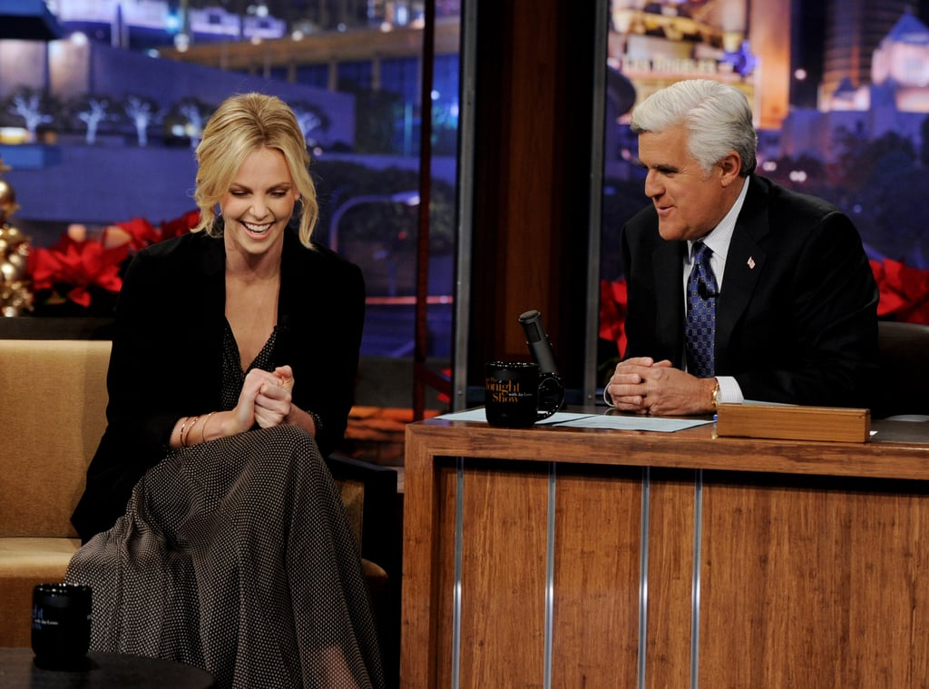 Jay and Charlize shared jokes during their chat.