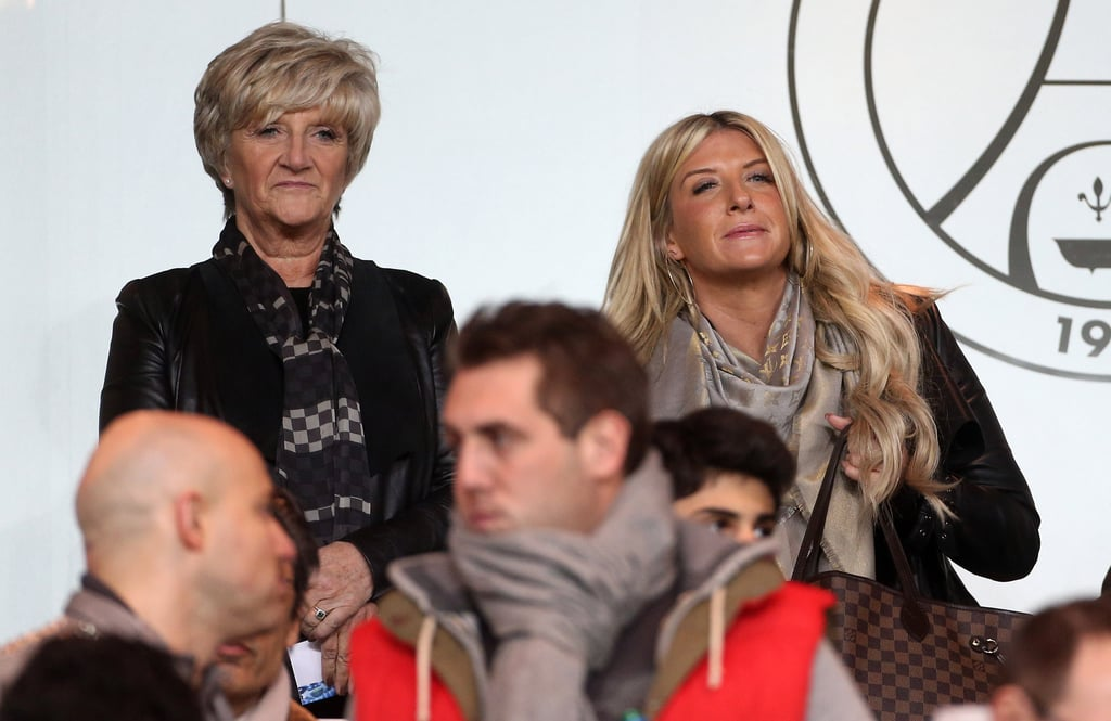 David Beckham's mom, Sandra Beckham, and sister Joanne Beckham watched PSG play from the stands.