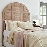 Stone & Beam Arced Rustic King Bed Headboard With Raised Panels