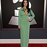 Katy Perry took to the red carpet in a Gucci gown.