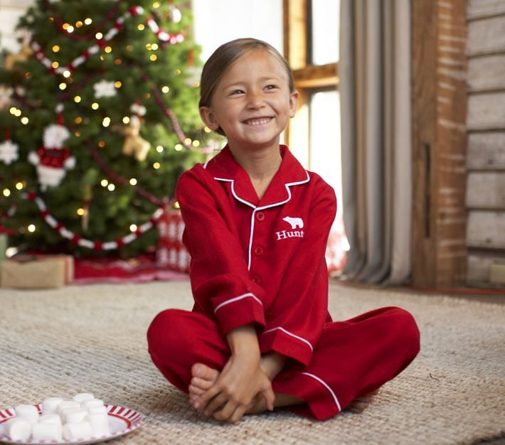 Kids' pajama set in red stripes Item H Product Details. PJs. Jammies. Jam-jams. Sleepy suits. No matter what you call them, our supersoft and cozy pajamas are anything but a snooze fest. Cotton. Machine wash. Import.