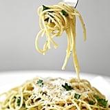 5-Ingredient Parmesan Garlic Spaghetti