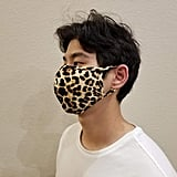 Leopard Print Reusable Washable Stretch Cotton-Lined Face Mask