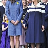 "Kate: ""Boris is getting awfully close behind you.""  Camilla: ""Just keep laughing and we'll inch away slowly."""
