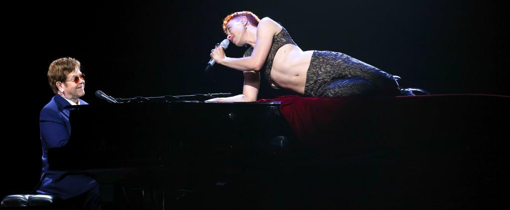 Olly Alexander Performs With Sir Elton John at BRITs 2021