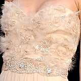 All the detail was in the gorgeous, delicate bodice.