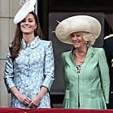 "Kate: ""No one's noticed my terrible manicure.""  Camilla: ""Nor mine . . ."""