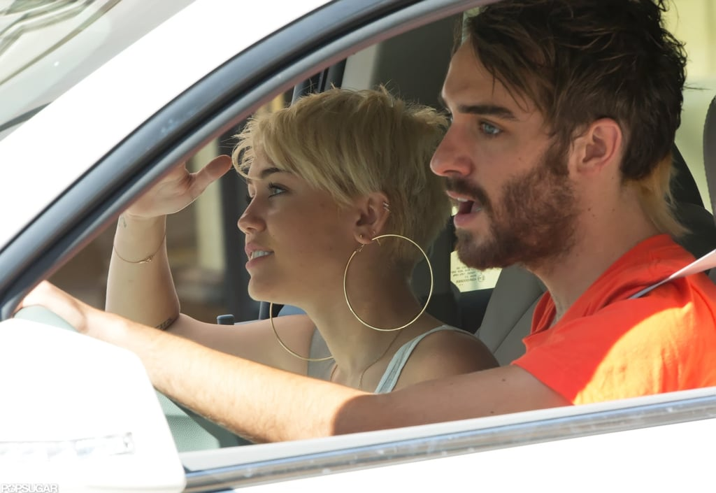 Miley Cyrus was spotted driving around Philadelphia with her friend Cheyne Thomas.