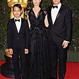 Brad, Angelina, and Maddox made a stylish trio at the Governor Awards in November 2013.