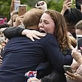 Prince Harry Hugs Sobbing Young Woman Australia 2018