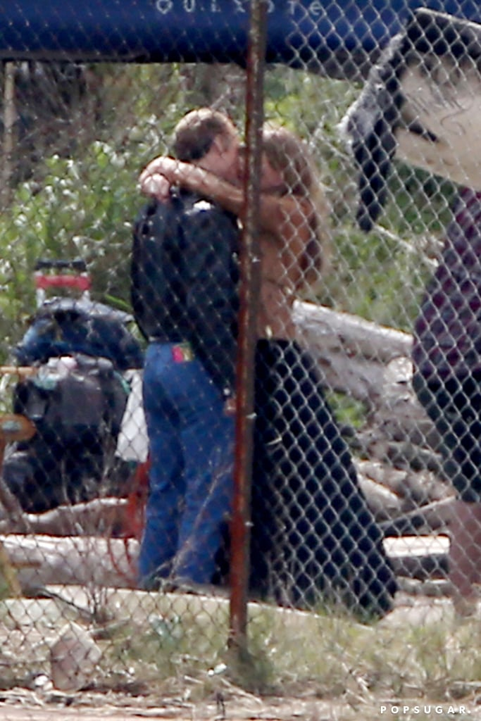 Johnny Depp and fiancée Amber Heard made out on the set of his film in Boston on Monday.