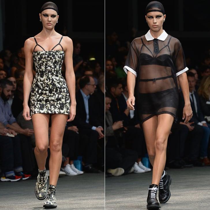 Adriana Lima and Candice Swanepoel at Menswear Fashion Week