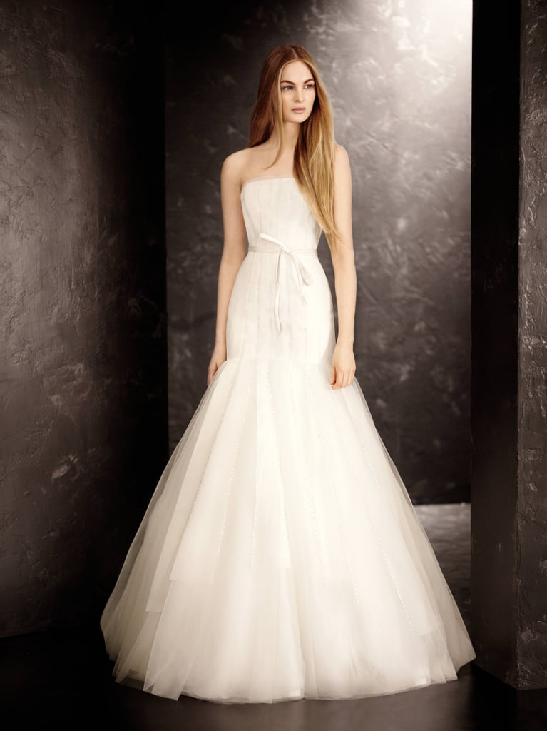Strapless Satin and Organza Fit and Flare Gown ($1,148) Photo courtesy of White by Vera Wang