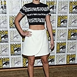 Jennifer Lawrence wore a Proenza Schouler ensemble to promote Catching Fire at Comic-Con.