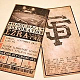 Custom Vintage Baseball Ticket Invitations