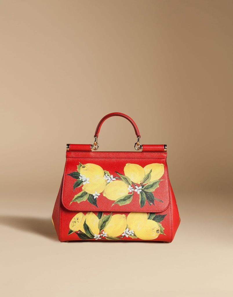 Dolce & Gabbana Medium Sicily Bag in Printed Dauphine Leather ($2,595)