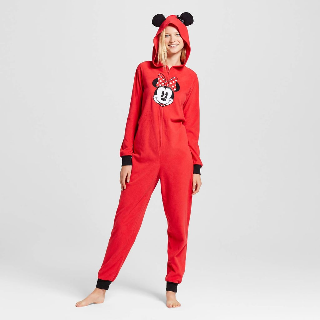 Disney Women's Hooded Minnie Mouse Union Suit Pajamas ($30)