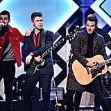 The Jonas Brothers at iHeartRadio's Jingle Ball in NYC