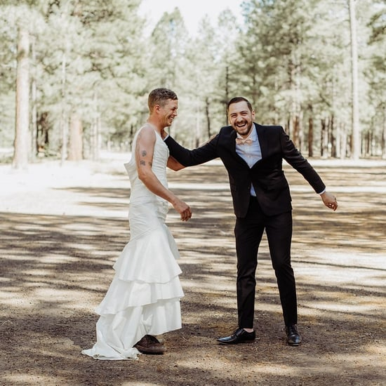 Bride Sends Brother to Her First Look in a Wedding Dress