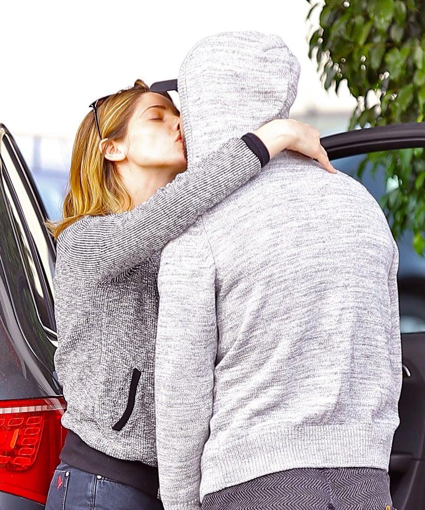 Ashley Greene and Paul Khoury shared romantic PDA in LA on Wednesday.