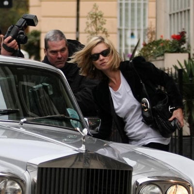 Kate Moss Drives Her Rolls-Royce in London