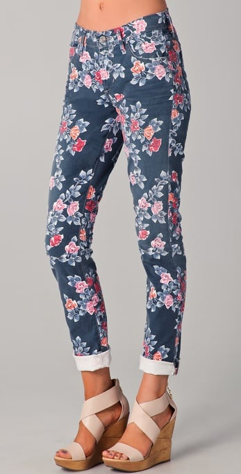 Citizens Of Humanity Mandy Floral Roll Up Jeans ($189)