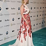 Rosamund Pike went with a floral dress for the Women in Film bash.