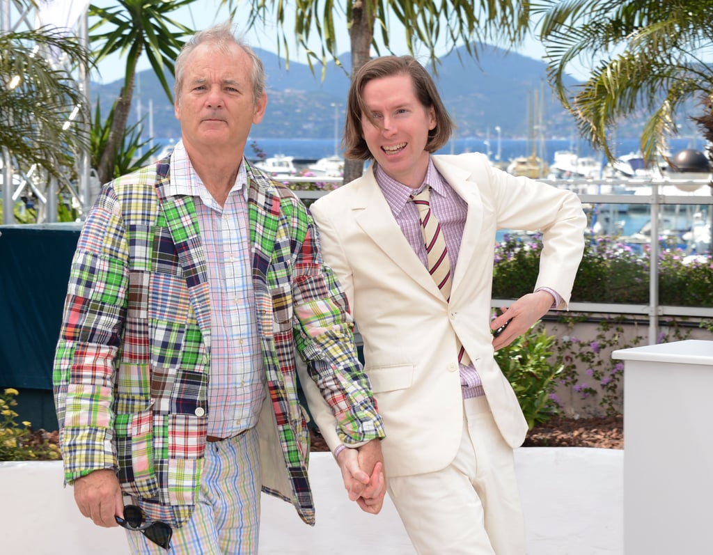 Bill Murray and Wes Anderson posed together at the Moonrise Kingdom photocall at the Cannes Film Festival.