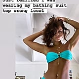 Vanessa Hudgens Wearing a Turquoise Bikini by Heart of Sun