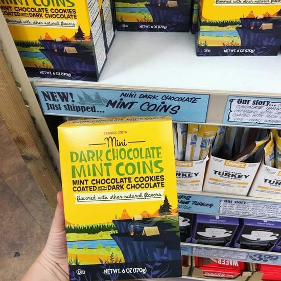 Trader Joe's Mini Dark Chocolate Mint Coins