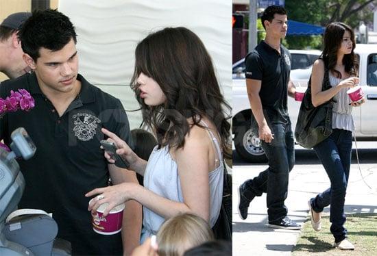 Selena and Taylor Grab a Treat