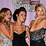 Lauren Conrad, Audrina Patridge, and Whitney Port puckered up at the 2007 MTV Movie Awards.
