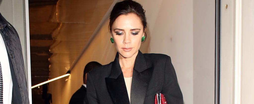 Hello Victoria Beckham —and H-E-L-L-O Glittering Holiday Heels