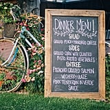Display your menu on a chalkboard.