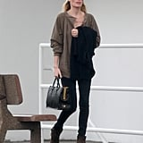 Kate Bosworth added some height in wedge booties.