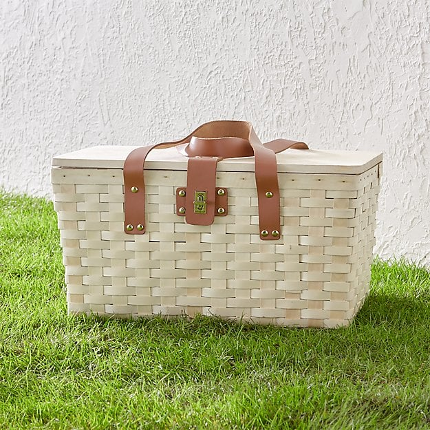 Outfitted Wooden Picnic Basket 17 Picnic Baskets That Are Too Adorable Not To Buy Popsugar Smart Living Photo 11