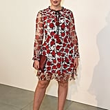 Wearing a Floral Markus Lupfer Dress