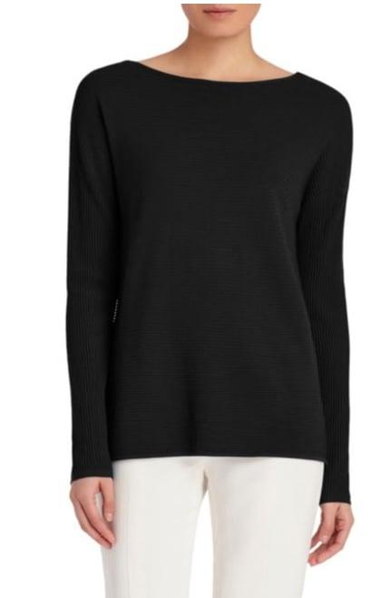 Lafayette 148 New York Rib-Knit V-Back Sweater ($147, originally $368)