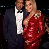 Beyoncé and Jay Z at the 2017 Grammys