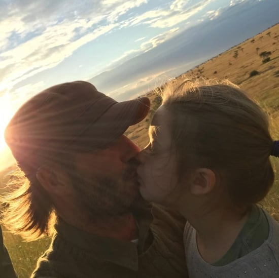 David Beckham Kisses Daughter