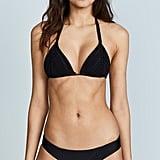 PilyQ Isla Triangle Bikini Top and Basic Ruched Bikini Bottoms