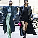 Gigi Hadid and Kendall Jenner at Milan Fashion Week