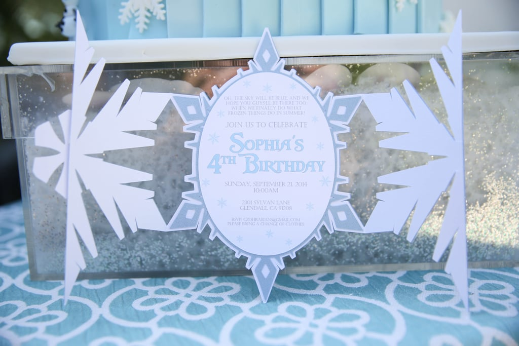 frozen snowflake invitation frozen themed girl s birthday party