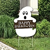 Spooky Ghost Welcome Yard Sign