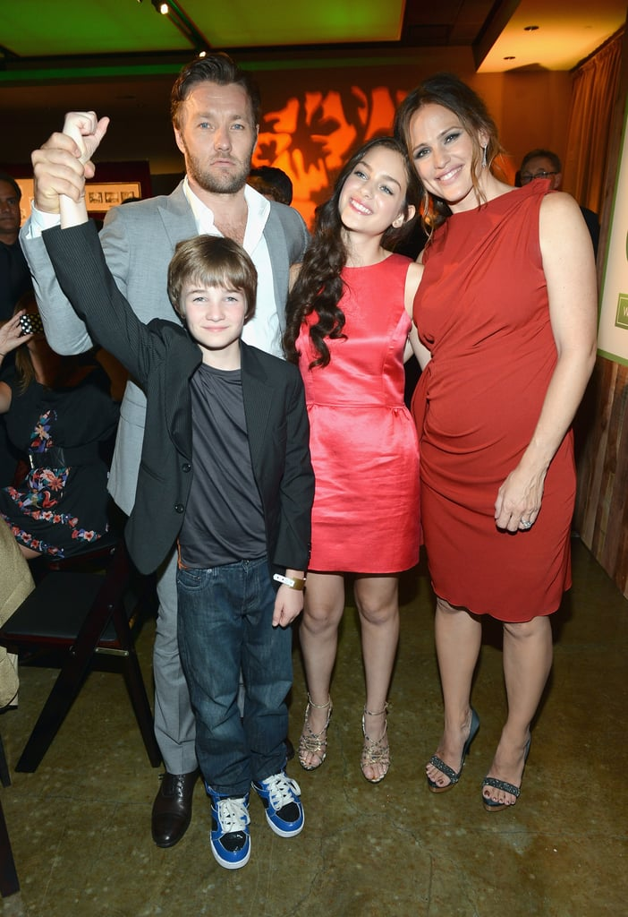 Joel Edgerton, Jennifer Garner, CJ Adams and Odeya Rush enjoyed themselves at the premiere of their new film The Odd Life of Timothy Green in LA.