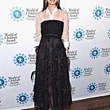 Lily Aldridge Wearing Carolina Herrera